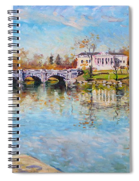 Fishing Day By Delaware Lake Buffalo Spiral Notebook