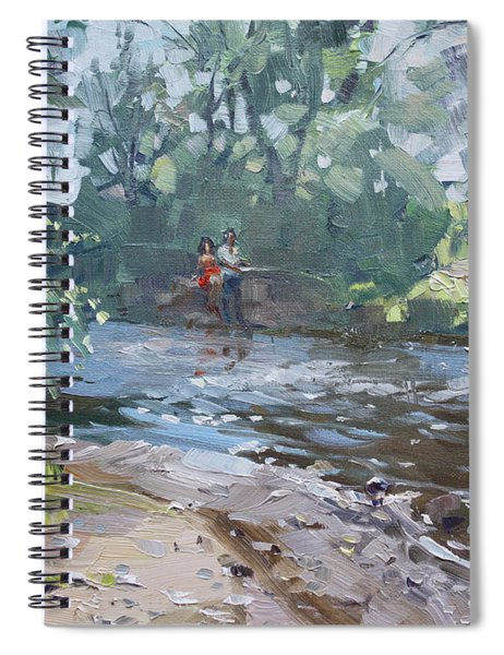 Fishing Day With Viola Spiral Notebook