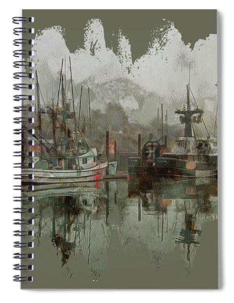 Fishing Fleet Dock Five Spiral Notebook