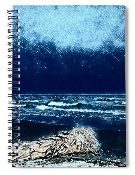 Fishing For The Moon Spiral Notebook