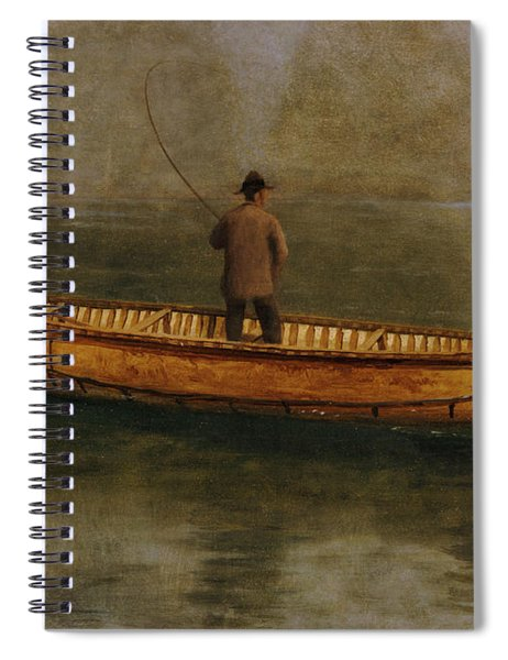 Fishing From A Canoe Spiral Notebook