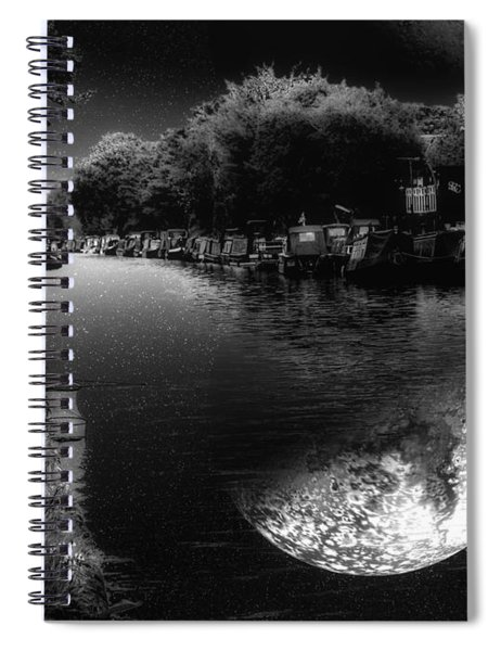 Fishing In The Moonlight Spiral Notebook