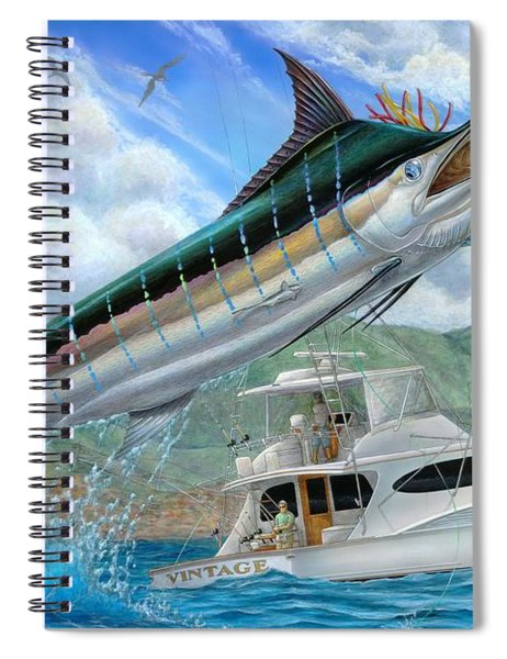 Fishing In The Vintage Spiral Notebook