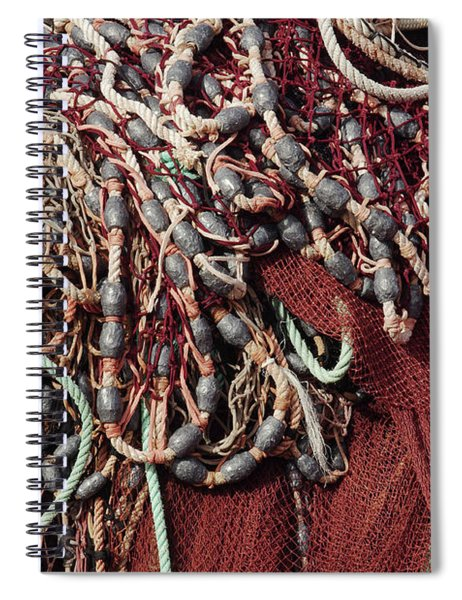 Fishing Nets And Led Weights Spiral Notebook