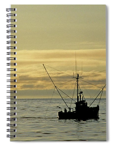 Fishing Off Santa Cruz Spiral Notebook