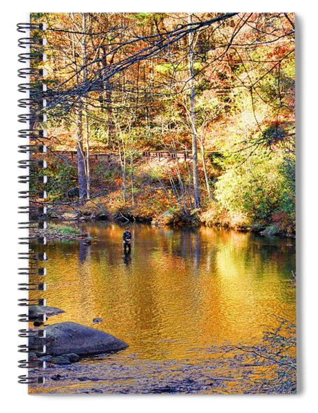 Fishing On The Cullasaja By H H Photography Of Florida Spiral Notebook