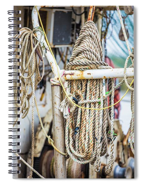 Fishing Ropes On Boat  Spiral Notebook