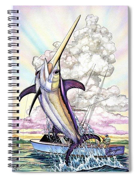 Fishing Swordfish Spiral Notebook