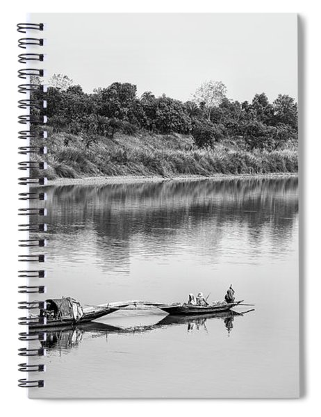 Fishing The Lower Ganges Spiral Notebook