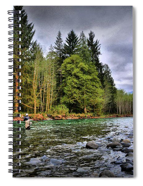 Fishing The Run Spiral Notebook
