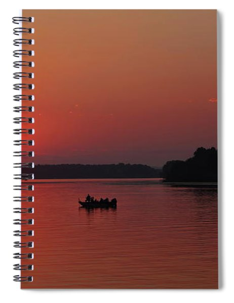 Fishing Until Sunset Spiral Notebook