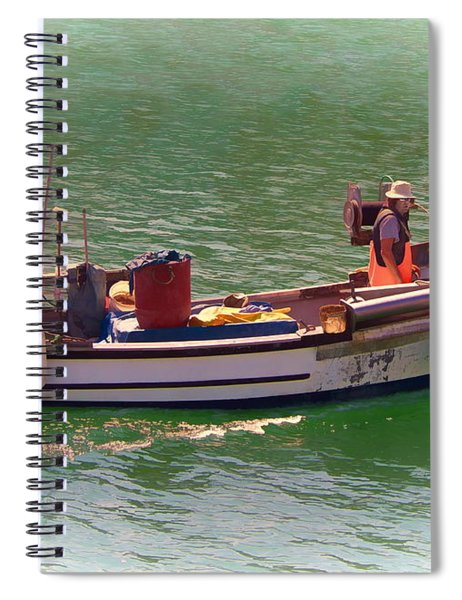 Fishing Vessel  Spiral Notebook by Paul Gulliver