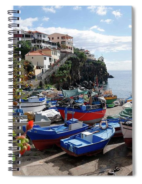 Fishing Village On The Island Of Madeira Spiral Notebook