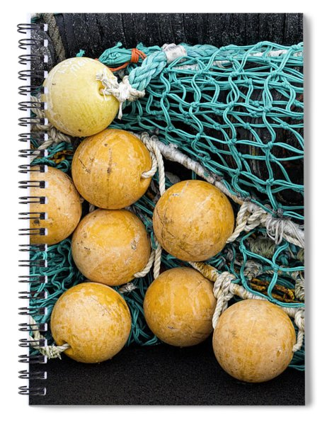 Fishnet Floats Spiral Notebook by Carol Leigh