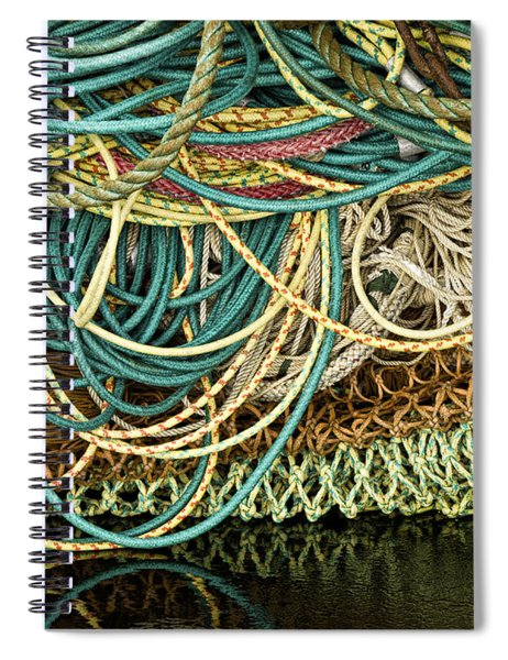 Fishnets And Ropes Spiral Notebook by Carol Leigh