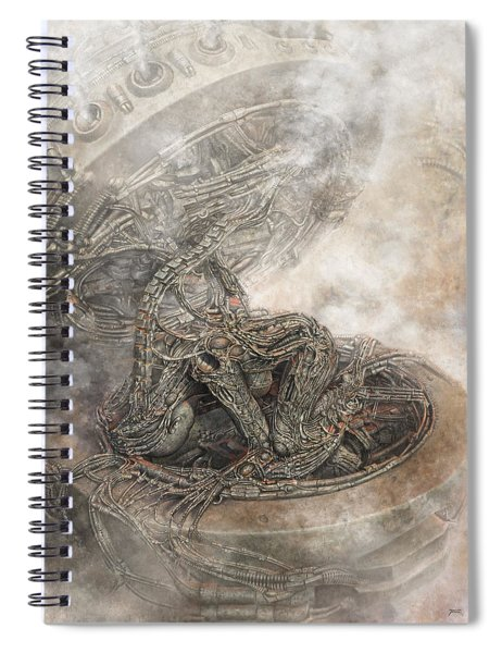 Fit Into The System Spiral Notebook