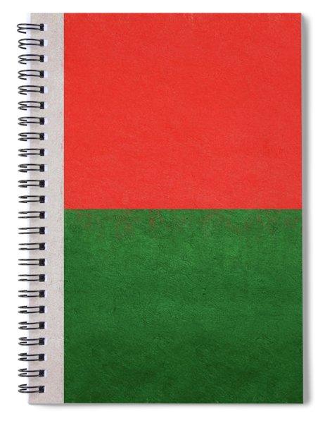 Flag Of  Madagascar Grunge. Spiral Notebook