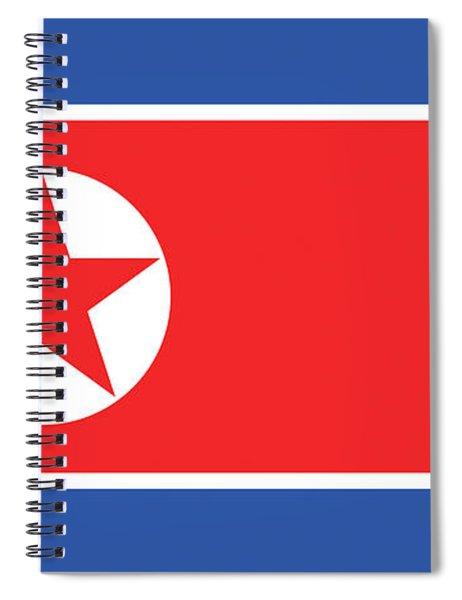 Flag Of North Korea. Spiral Notebook