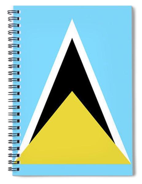 Flag Of Saint Lucia Spiral Notebook