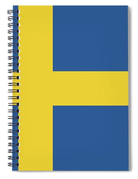 Flag Of Sweden Spiral Notebook