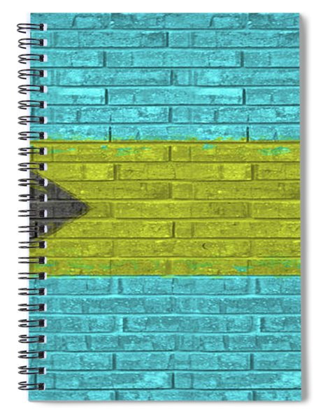 Flag Of The Bahamas Wall Spiral Notebook