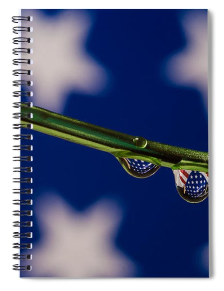 flag on a Wire Spiral Notebook