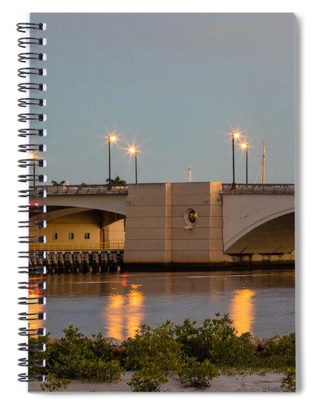 Flagler Bridge In Lights IIi Spiral Notebook