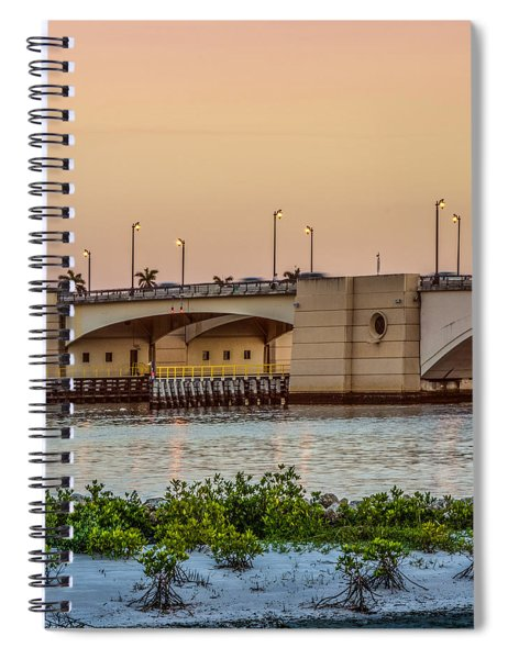 Flagler Bridge In The Evening II Spiral Notebook