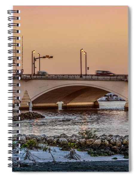 Flagler Bridge In The Evening IIi Spiral Notebook