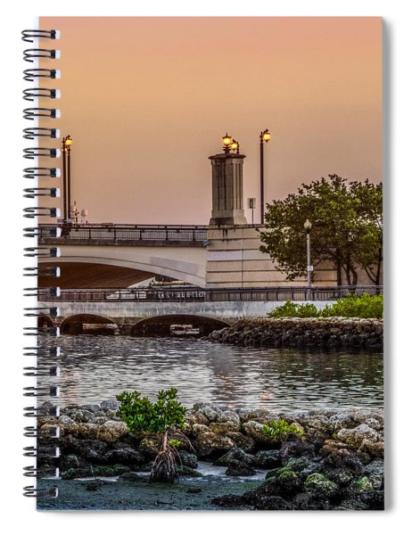 Flagler Bridge In The Evening Iv Spiral Notebook