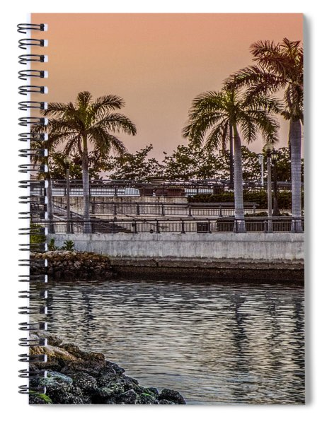 Flagler Bridge In The Evening V Spiral Notebook