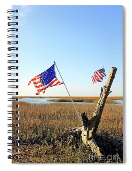 Flags Near Tybee Spiral Notebook