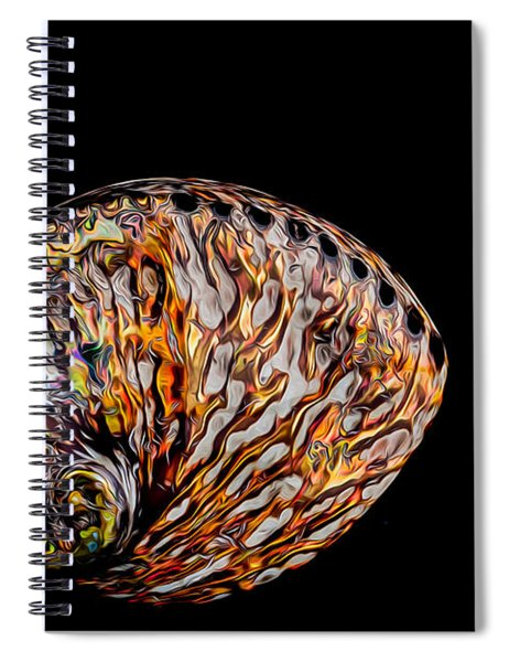 Flame Abalone Spiral Notebook