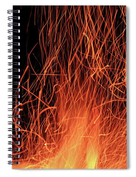 Flame Abstract 3 Spiral Notebook