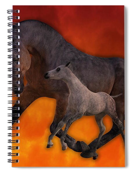 Flame N Firehouse  Spiral Notebook