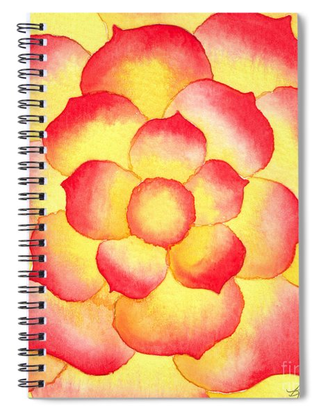 Flame Tip Watercolor Spiral Notebook