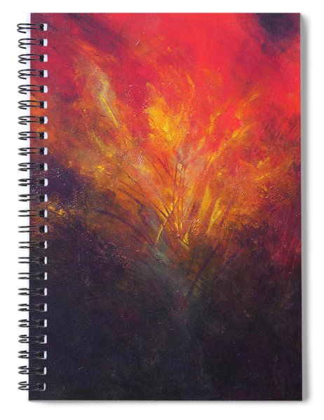 Flame Within Spiral Notebook