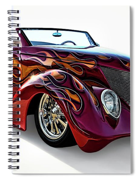 Flamin' Red Roadster Spiral Notebook