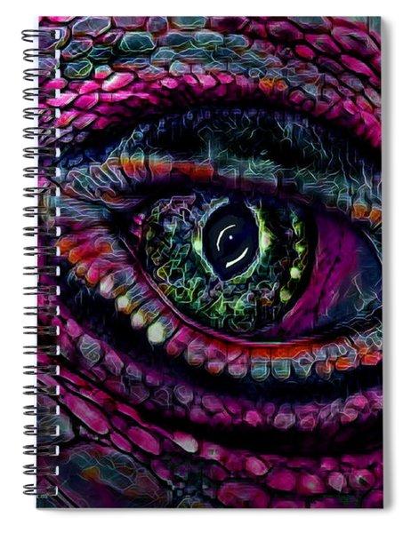 Flaming Dragons Eye Spiral Notebook
