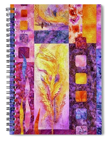 Flaming Feathers Spiral Notebook
