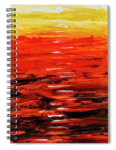 Flaming Sunset Abstract 205173 Spiral Notebook