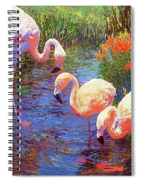 Flamingo Tangerine Dream Spiral Notebook