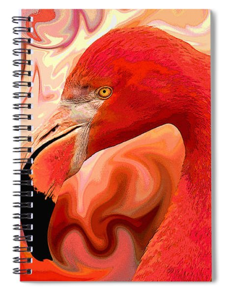 Flamingoed An Abstract In Pink Spiral Notebook by Shelli Fitzpatrick
