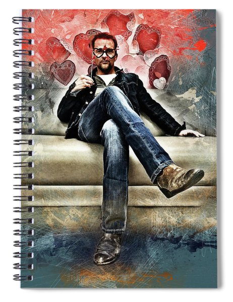 Flanery Valentine Spiral Notebook
