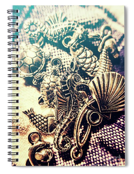 Flares Of Nautical Beauty Spiral Notebook