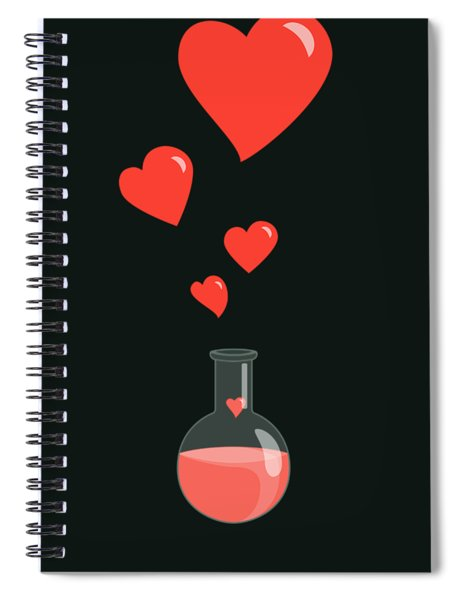 Flask Of Hearts Spiral Notebook