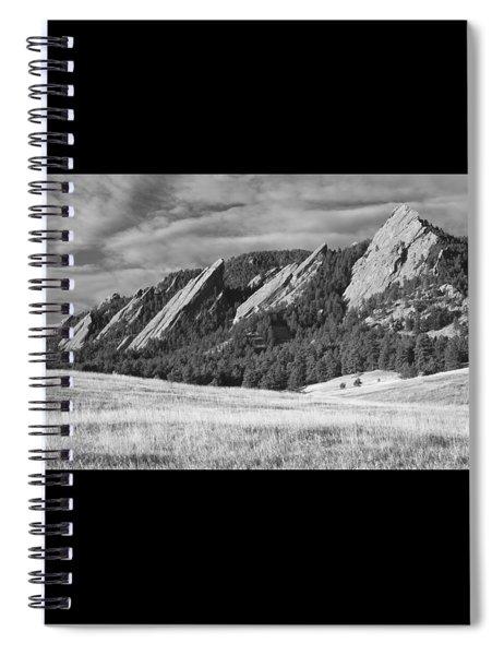 Flatiron Morning Light Boulder Colorado Bw Spiral Notebook