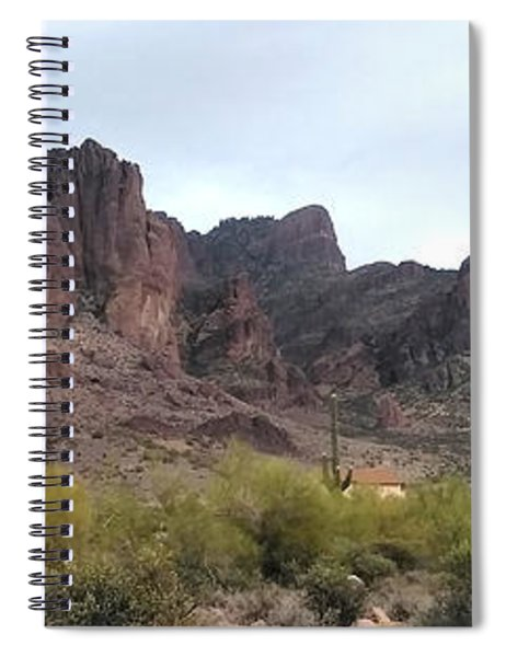 Flatiron Of The Superstition Mountains Spiral Notebook