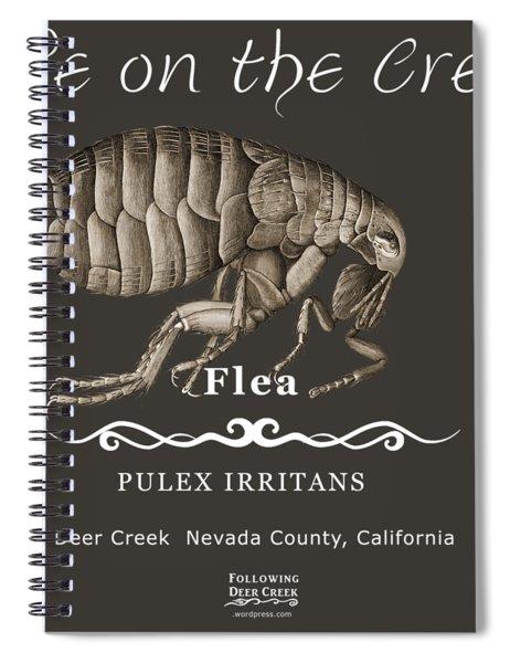 Flea Spiral Notebook