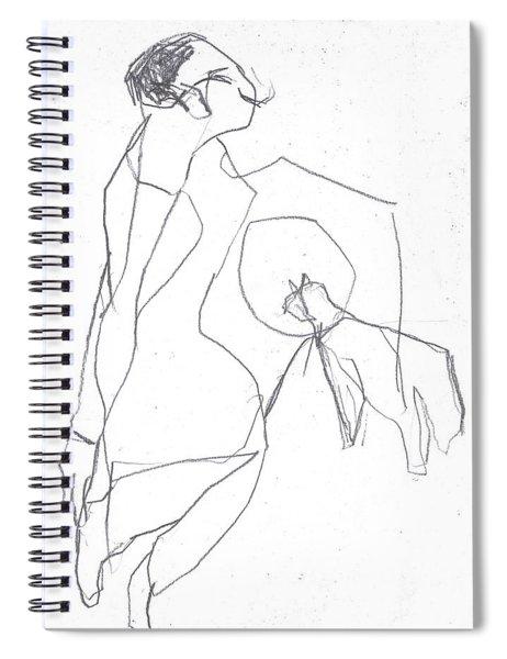 Fleeing Woman Spiral Notebook